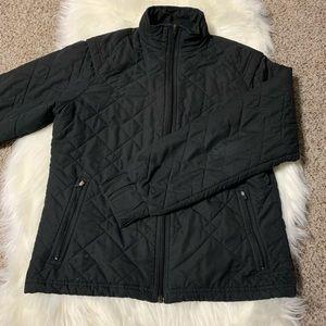 Black quilted adidas jacket size medium
